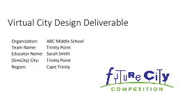 Virtual City Design Deliverable