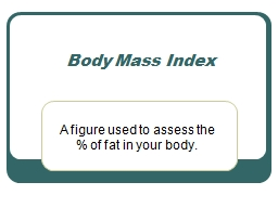 A figure used to assess the % of fat in your body.