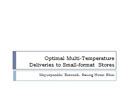 Optimal Multi-Temperature Deliveries to Small-format Stores