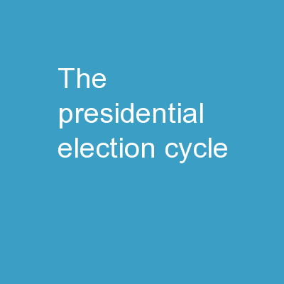 The Presidential Election Cycle