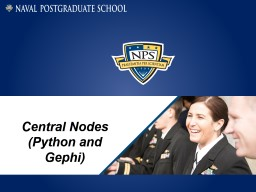 Central Nodes (Python and