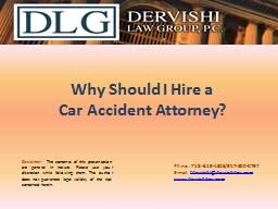 Why Should I Hire a Car Accident Attorney?