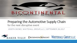 Preparing the Automotive Supply Chain