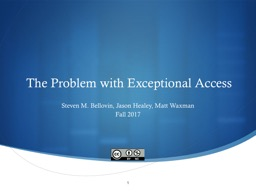 The Problem with  Exceptional Access