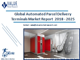 Automated Parcel Delivery Terminals Market Share, Global Industry Analysis Report 2018-2025