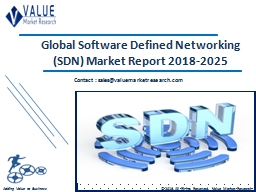 Software Defined Networking Market Share, Global Industry Analysis Report 2018-2025