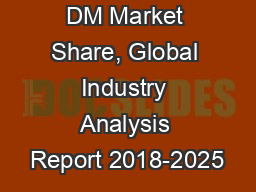 TCD Alcohol DM Market Share, Global Industry Analysis Report 2018-2025