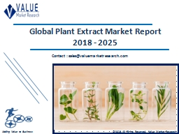Plant Extract Market Share, Global Industry Analysis Report 2018-2025