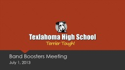 Band Boosters Meeting July 1,