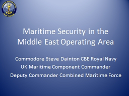 Maritime Security in the Middle East Operating Area