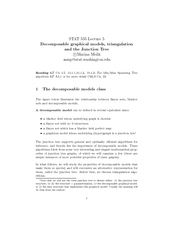STAT  Lecture  Decomposable graphical models triangula