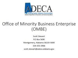Office of Minority Business Enterprise PowerPoint Presentation, PPT - DocSlides