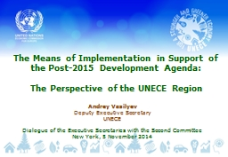 The Means of Implementation in Support of