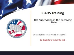 ICAOS Training 103-Supervision in the Receiving State
