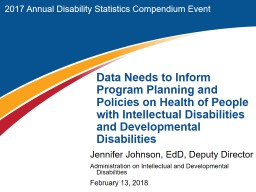 2017 Annual Disability Statistics Compendium Event