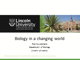 Biology in a changing world