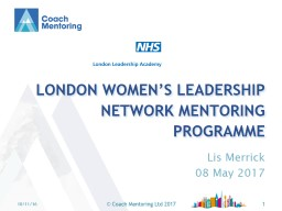 London women�s Leadership Network mentoring programme
