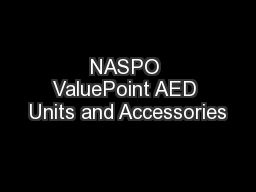 NASPO ValuePoint AED Units and Accessories