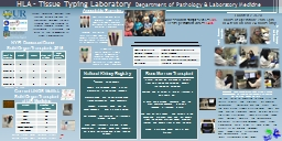HLA - Tissue Typing  Laboratory PowerPoint Presentation, PPT - DocSlides