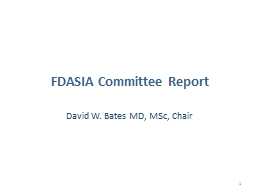 FDASIA  Committee Report