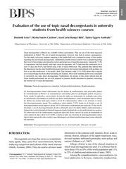 Brazilian Journal of Pharmaceutical Sciences vol