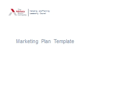 Marketing Plan Template Marketing and Planning Leadership Council