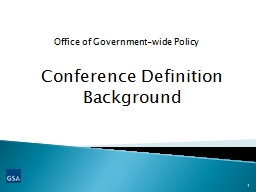 Conference Definition Background
