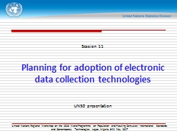 Session 11 Planning for adoption of electronic data collection technologies