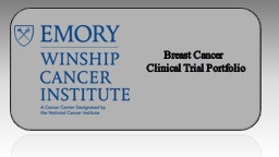 Breast Cancer  Clinical