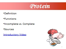 1 Protein Definition Functions PowerPoint PPT Presentation