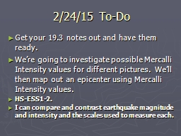 2/24/15   To-Do Get  your