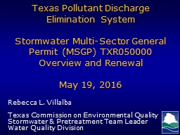Texas  Pollutant Discharge Elimination