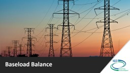 Baseload Balance Electrical Supply and Demand