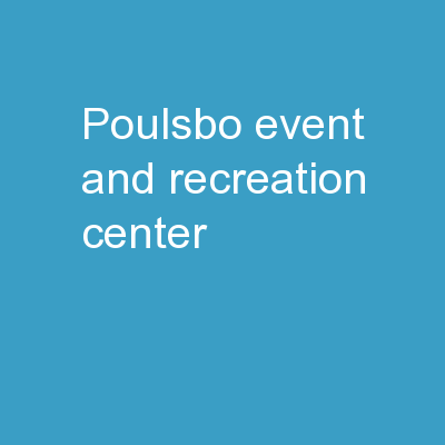 Poulsbo Event and Recreation Center