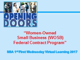 """""""Women-Owned  Small Business (WOSB)"""
