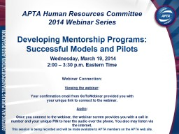 APTA Human Resources Committee