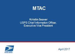 USPS  Chief Information PowerPoint PPT Presentation