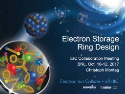 Electron Storage Ring Design