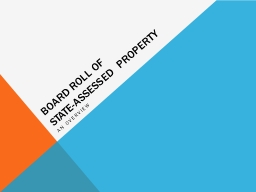 Board Roll of  State-assessed Property