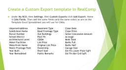 Create  a Custom  Export template in PowerPoint PPT Presentation