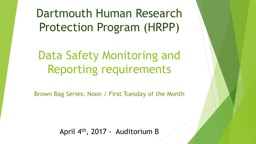 Dartmouth Human Research Protection Program (HRPP)