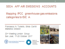 SEEA  aFF Air emissions accounts