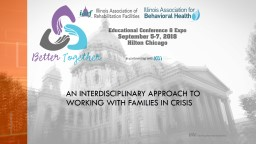 An interdisciplinary approach to working with families in crisis