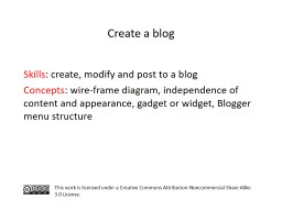 S kills : create, modify and post to a blog PowerPoint PPT Presentation