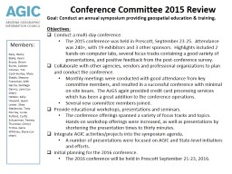 Conference Committee 2015 Review