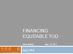 Financing Equitable  tod