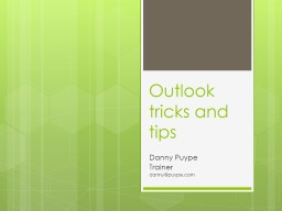 Outlook  tricks and tips