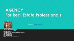 AGENCY For Real Estate Professionals