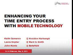 Enhancing Your  Time  Entry Process With