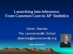 Launching into Inference: